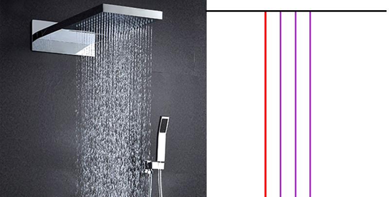 hm A High Quality 100% Brass Finish Chrome Thermostatic Shower Mixer Faucet, Shower Faucet, Hidden Water Round 5 Dial 4 Ways (6)