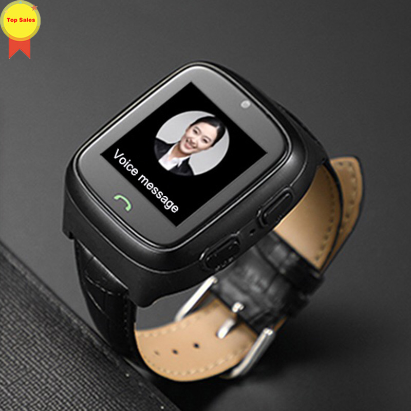 New HD touch screen Elder Smart watch old man Heart Rate bp Watch GPS Track Watch Voice chat SOS Fall down Alarm remote monitor - 2