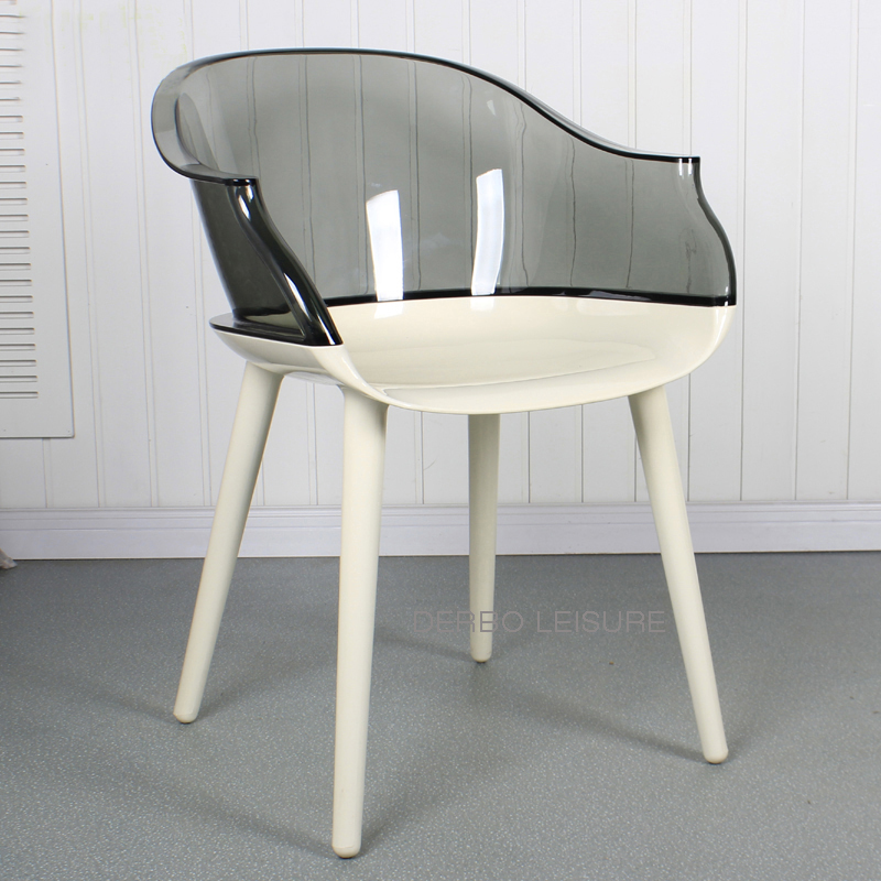 Awesome Us 229 0 Modern Design Transparent Clear Back Luxury Dining Arm Side Chair Fashion Loft Popular Nice Office Leisure Computer Chair 1Pc In Dining Bralicious Painted Fabric Chair Ideas Braliciousco
