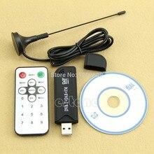 цена на 2019 Hot USB2.0 Digital DVB-T SDR+DAB+FM HDTV TV Tuner Receiver Stick HE RTL2832U+R820T