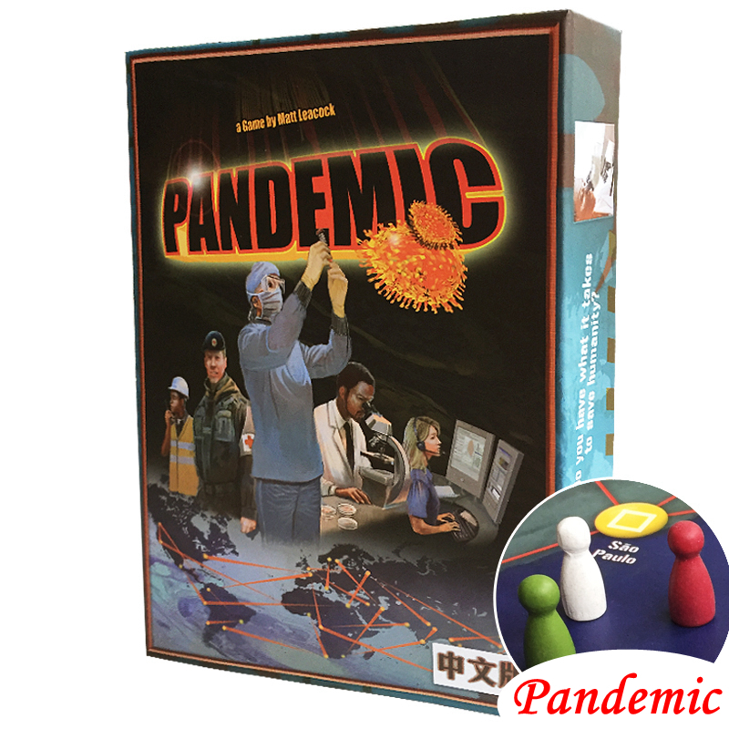Pandemic Board Game Paper Cards Strategic Reasoning Plague Funny Party indoor table Game For Family настольная лампа brilliant salsa g08048 22