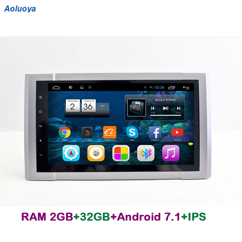 Aoluoya IPS 2 GB RAM 32 GB ROM Android 7.1 lecteur DVD de voiture pour Toyota Tundra 2014 2015 2016 autoradio GPS Navigation multimédia DAB
