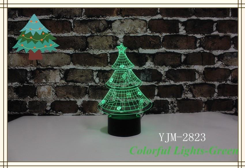 Yjm 2823 amazing christmas tree shape night light led for Led craft christmas lights