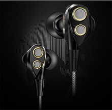3.5mm In Ear Hifi Double Dynamic Earphon Driver Jack Stereo Headset Mobile Fone de ouvido auriculares audifonos gaming headsets