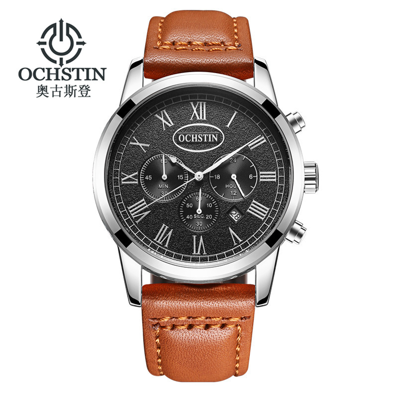 2017 NEW Luxury Brand OCHSTIN Men Sport Watches Men's Quartz Clock Man Army Military Leather Wrist Watch  Men Relogio Masculino sunward relogio masculino saat clock women men retro design leather band analog alloy quartz wrist watches horloge2017