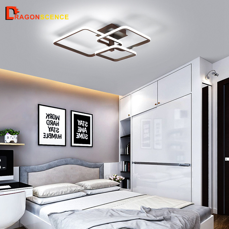 Dragonscen Rectangle Acrylic Aluminum Modern Led ceiling lights for living room bedroom AC85-265V White Ceiling Lamp FixturesDragonscen Rectangle Acrylic Aluminum Modern Led ceiling lights for living room bedroom AC85-265V White Ceiling Lamp Fixtures