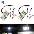 YM E-Bright 2 шт. Светодиодная панель 5730 12 SMD 12 светодиодов 12 В постоянного тока с T10 фестон-адаптер панель света Супер белый цвет