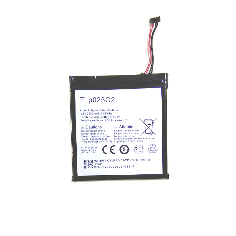 Westrock 2580mAh TLp025G2 Battery For Alcatel ONE TOUCH Pixi 4 7.0 9003X TLp025G2 Cell Phone