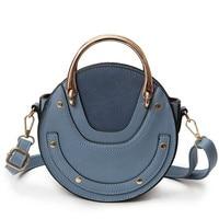 2019 New Fashion Mini PU Leather Handbag One Shoulder Cross body Bag Small Round Package Women Bag Messenger Bags