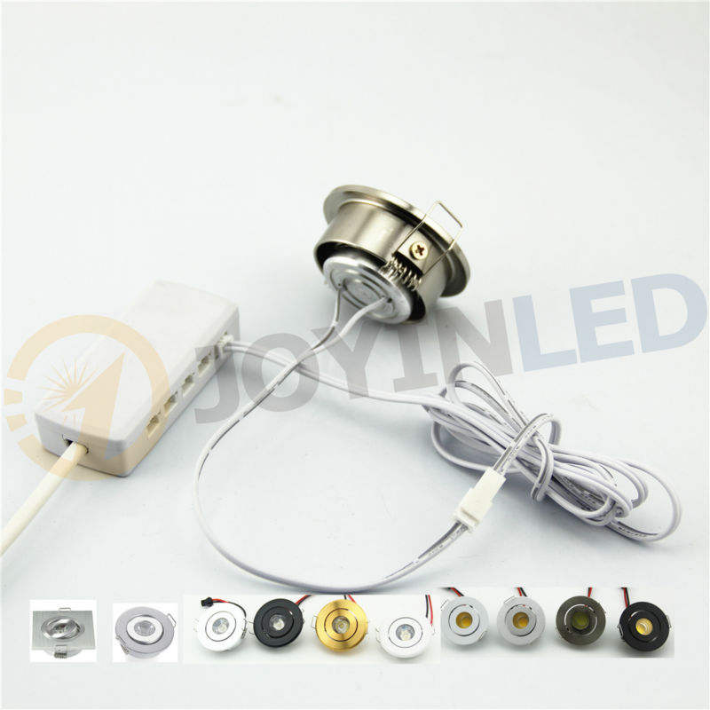 6pcs LED Lamp and 1PCS Driver 18W COB LED Ceiling Spot lights Recessed Small LED Spotlight Cabinet Light DC12/AC220V
