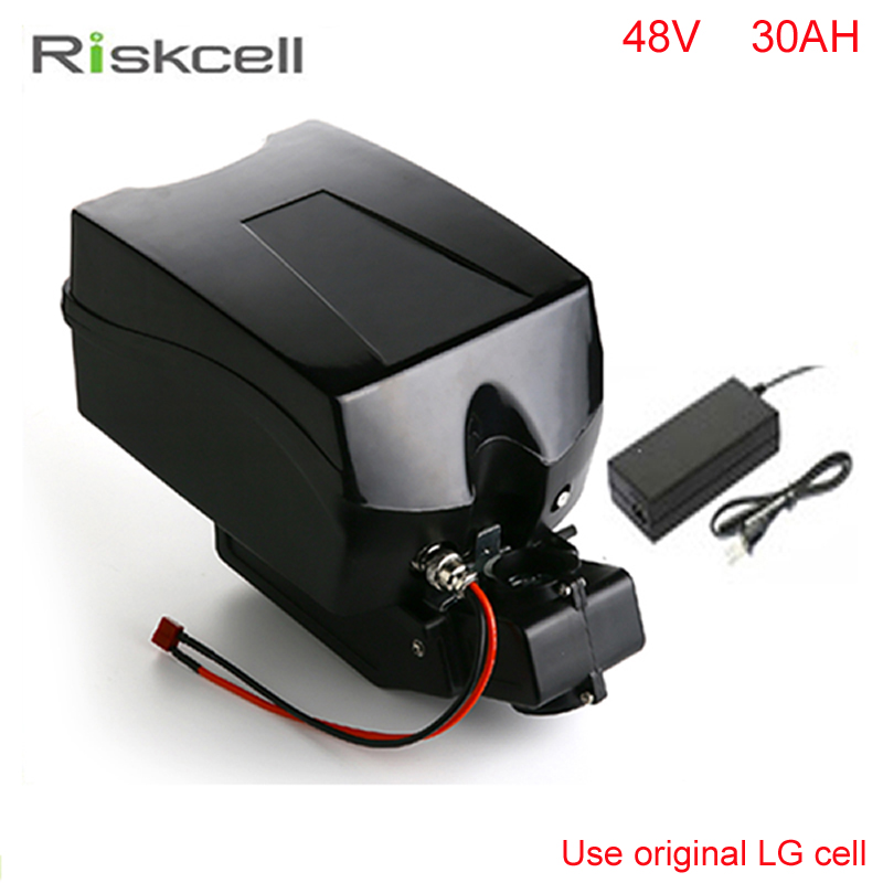 Frog case ebike lithium battery 48v 30ah lithium ion bicycle 48v electric scooter battery for electric bike Use LG 18650 cell free customs duty 1000w 48v battery pack 48v 24ah lithium battery 48v ebike battery with 30a bms use samsung 3000mah cell