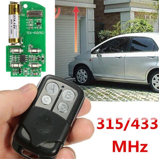 Universal 27a 12v 4 Channel 433 315 Mhz Gate Garage Door Opener