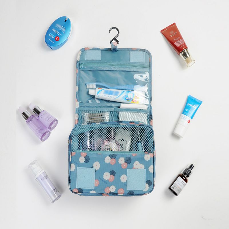 Waterproof Portable Travel Set Women Cosmetic Organizer Pouch Hanging Wash Camping Bags