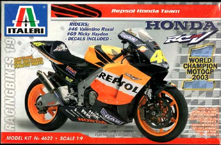 ITALERI HONDA RC211V REPSOL MOTOGP CHAMPION 2003 KIT 4622 SCALA 1/9