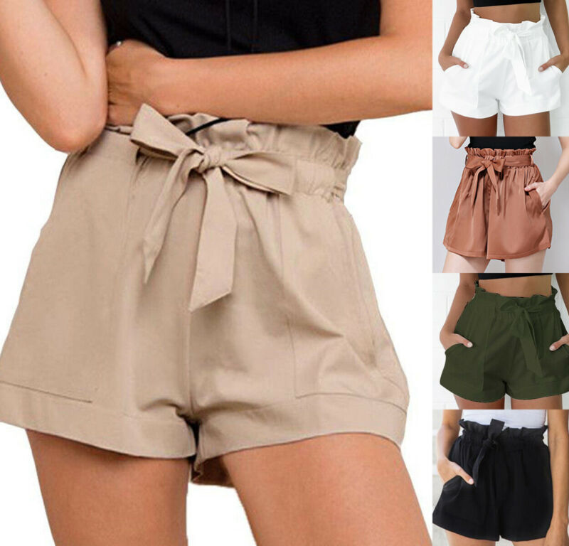 Women Hot Shorts Summer Casual Loose Shorts High Waist Short Trousers New Style 4Colors