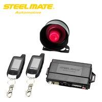 Steelmate Allarme Keychain 888E Due LCD Allarme Auto Sistema di Sicurezza con L'inizio A Distanza Sistema Keyless Entry Pulsante Porta Dispositivo