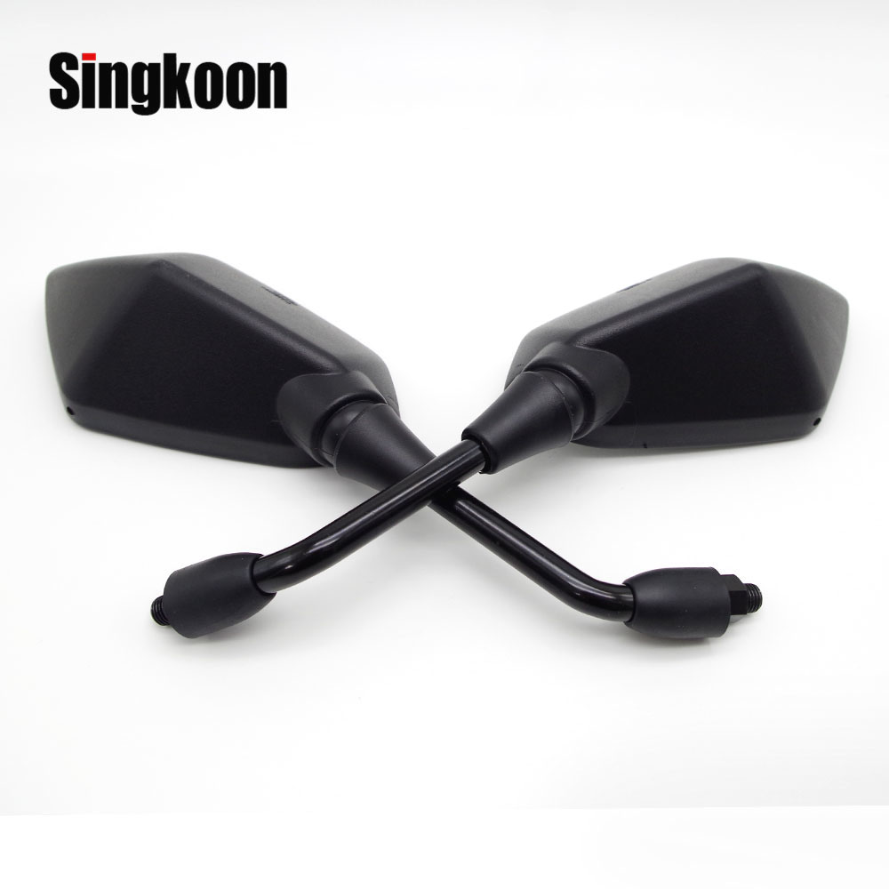 Automobiles & Motorcycles Universal 10mm Motorcycle Rearview Mirrors Round Scooter Side Mirrors Accessories For Suzuki Bandit 650 Yamaha Mt 03 Mt07 Mt09 Durable Service