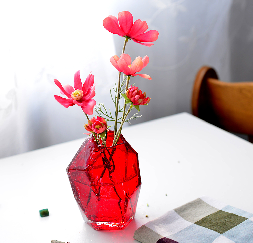 Red Fashion Gl Vase Mini Handmade Colored For Room Decoration Home Decor Tabletop Vases Flowers Centerpieces Terrarium In From Garden On