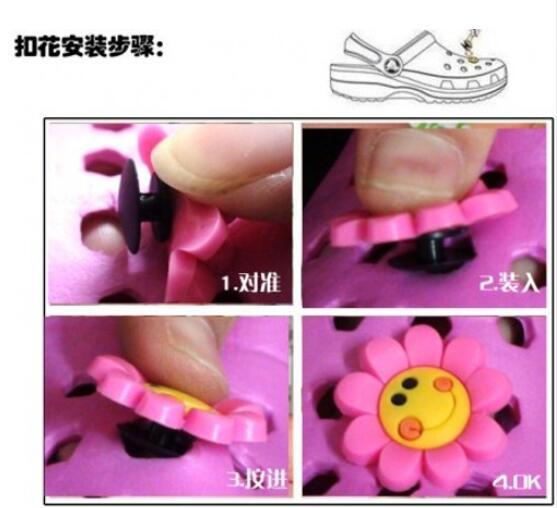 Image 3 - 100PCS Mickey Sesame Street Cartoon PVC Shoe Charms Avenger Shoe Accessories croc decorations jibz  shoe buckles kids giftpvc shoe charmsshoe charmsshoes accessories -