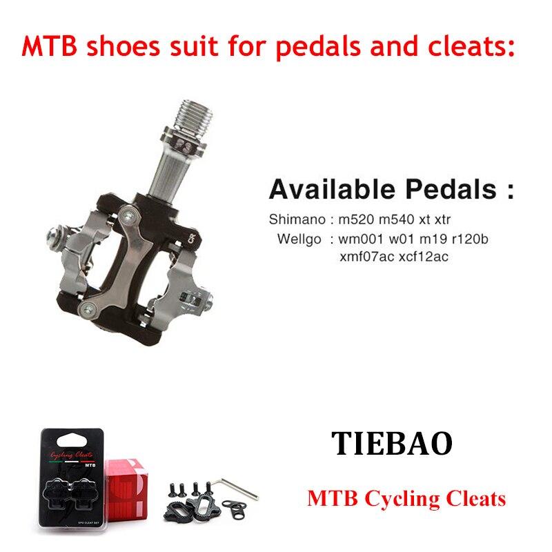 Купить с кэшбэком Tiebao Cycling Shoes add SPD Pedal Mountain Bicycle bike Racing shoes Self-Locking Bike sapatilha zapatillas ciclismo MTB Shoes
