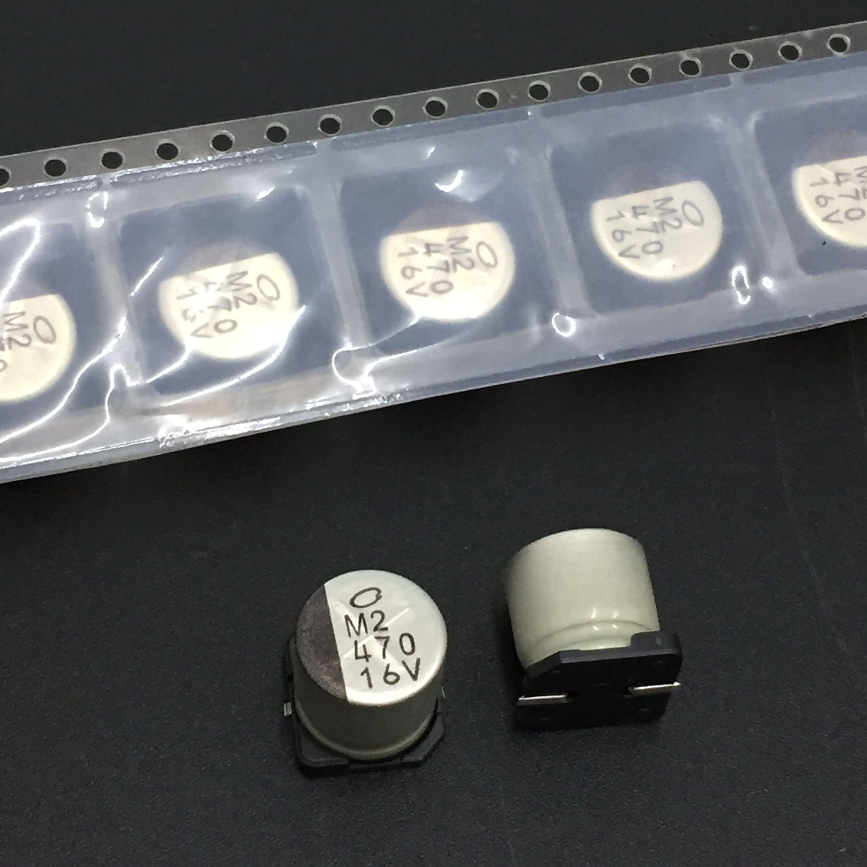 10 Uds 470uF 16V NICHICON tu serie 10x10mm 16V470uF Chip SMD de tipo condensador electrolítico de aluminio