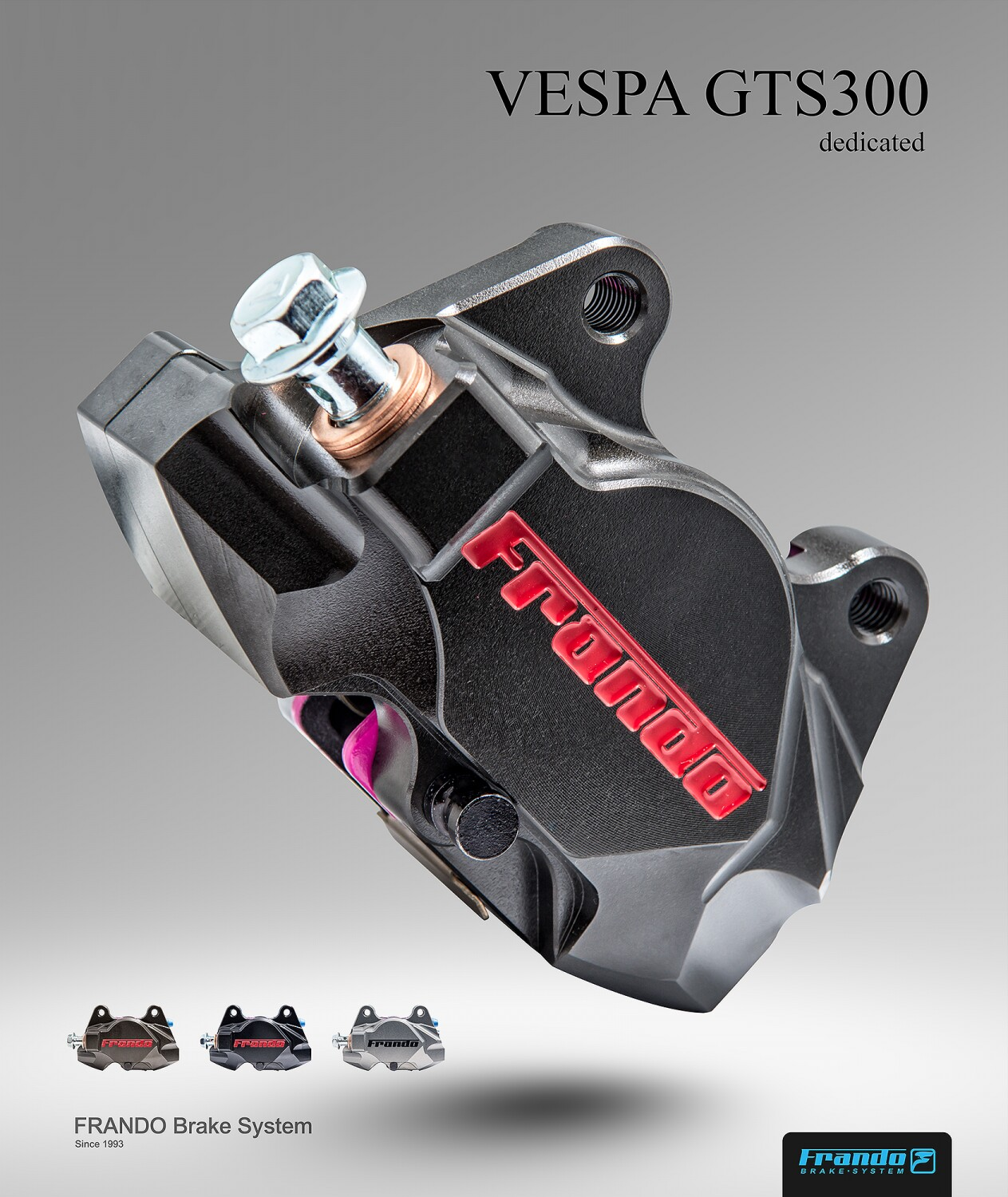 Frando F901 series CNC pair piston calipers Rear brake calipers for piaggio vespa  GTS 300/ LX/LXV crabs-in Brake Shoe Sets from Automobiles & Motorcycles