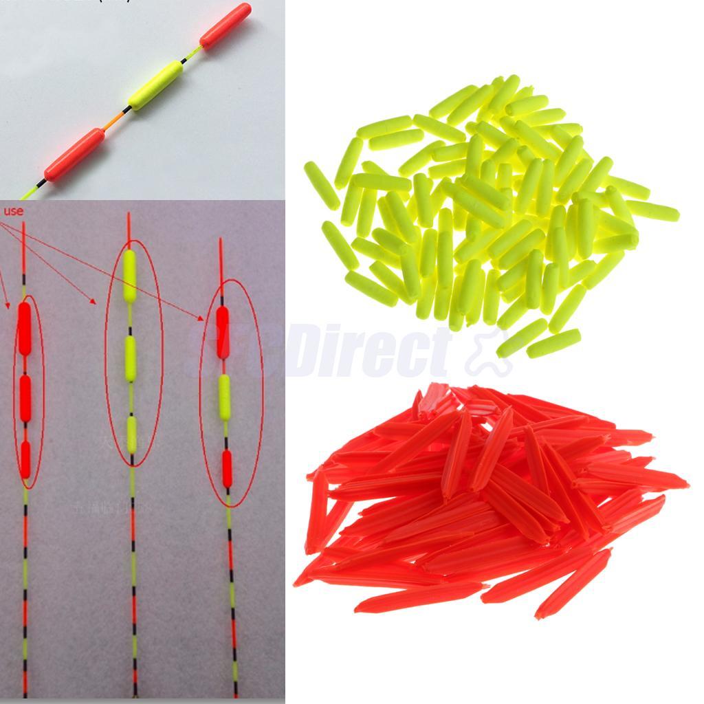 100 шт яркие цвета цилиндрический индикатор удара Рыболовные Поплавки форель лососевый поплавок рыболовные снасти Рыболовный поплавок      АлиЭкспресс