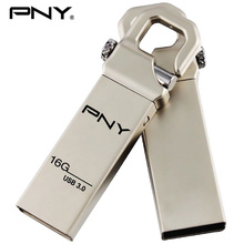 PNY USB Flash Drive 16GB 3.0 Metal Pendrive USB Stick Gold Pen Drive HOOK Attache 3.0 usb business For personality car audio mp3