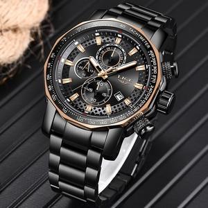Image 3 - Relogio Masculino 2019 New Watch Men LIGE Mens Watches Top Brand Luxury Male Sport Quartz Clock Military Waterproof Chronograph