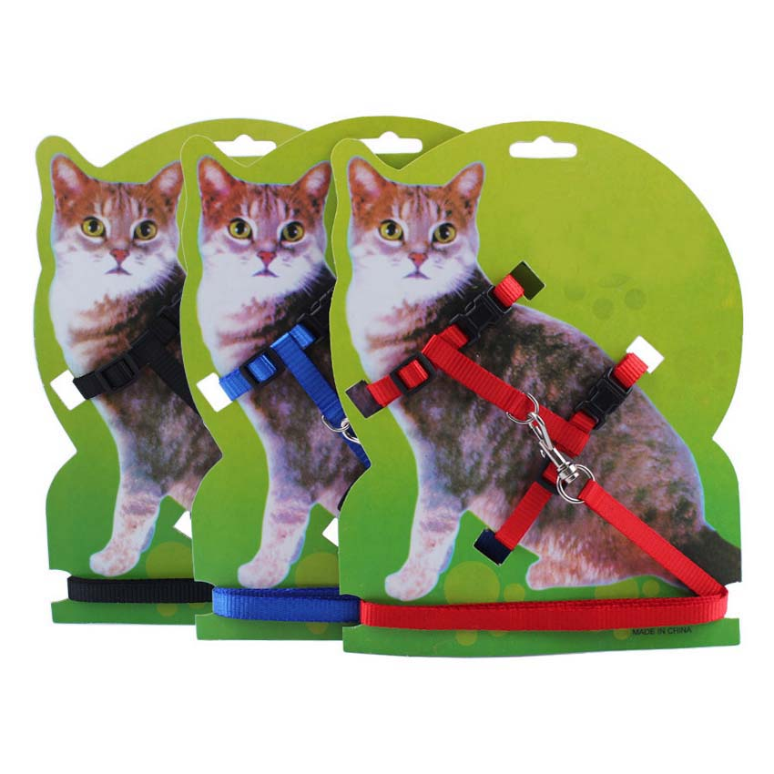 Ajustable Nylon Gato Gatito Correa Dureza Cachorro Gatos Banda para - Productos animales