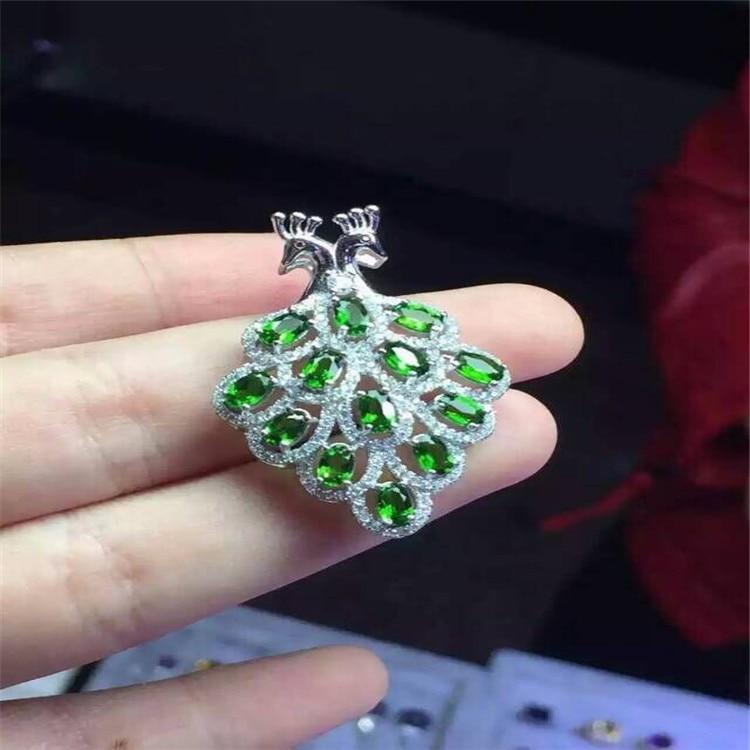 KJJEAXCMY boutique bijoux 925 pur argent naturel diophane diamant pendentif collier incrusté de phoenix micro-incrustation bijoux