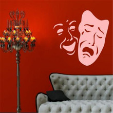 Theater Masks Smile And Sad Face Pattern Wall Decor Stickers Home Decoration For Living Room Walls Decors