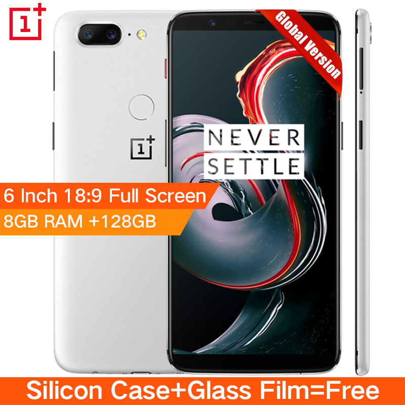 """Original Oneplus 5T 5 T 8GB 128GB Snapdragon 835 Octa Core Smartphone 6.01""""20.0MP 16.0MP Dual Camera LTE 4G Android 7.1 OxygenOS"""