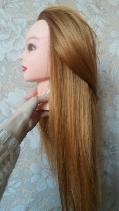 CAMMITEVER Mannequin Testa Con Capelli Parrucchieri Training Practce Dummy Dolls Barbiere Taglio di Capelli Formazione Manichino Heads