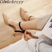 Новые летние модные замшевые женские босоножки на высоком каблуке