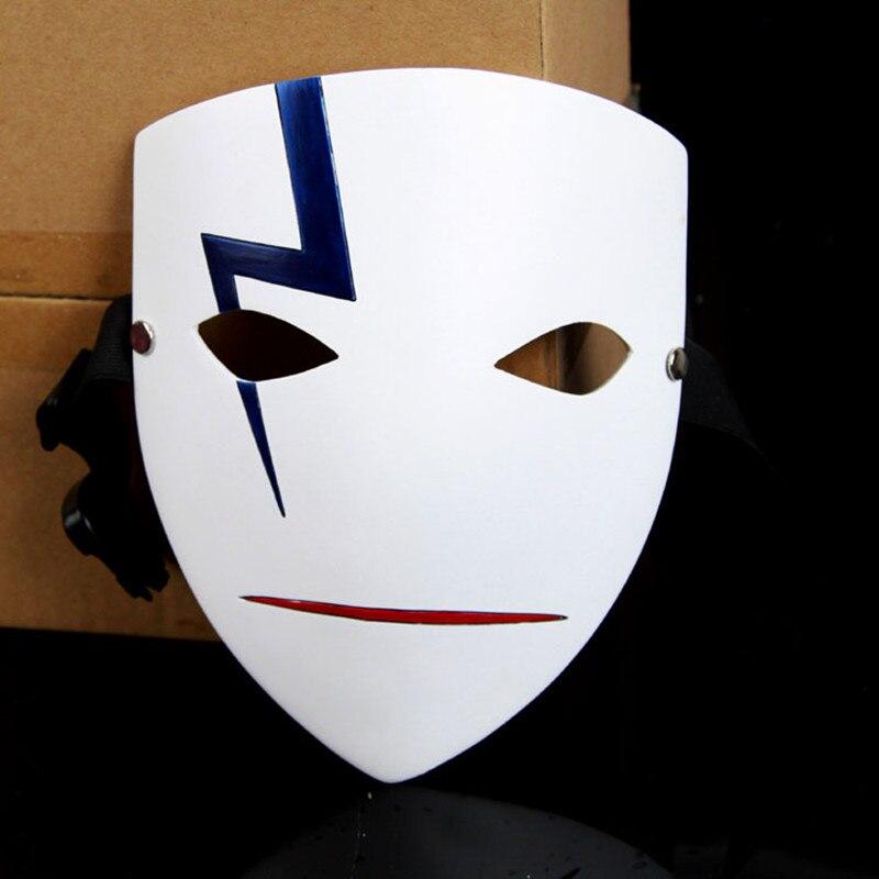 Thème du film Mascara japonais masques de fête Anime sourire Hei Lee Cosplay Hallowmas plus foncé que noir résine tonnerre masque fantôme