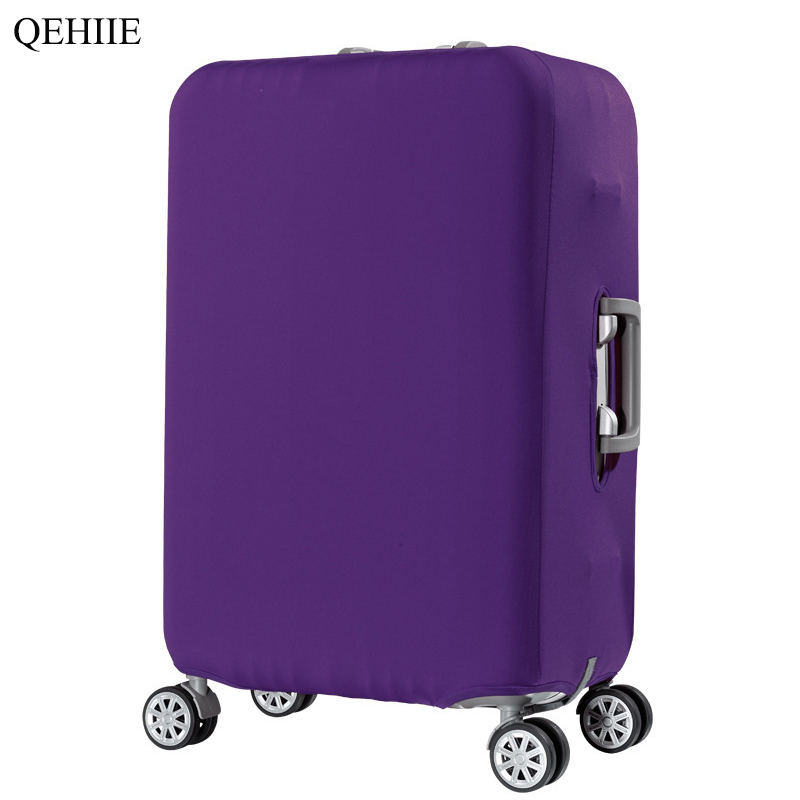 Hot Thicken Travel Suitcase Cover Solid Color Quality High Elastic Suitcase Cover 18 20 24 26 28 32 Inch Trolley Case Dust Cover