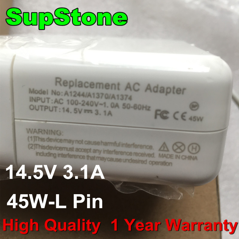 SupStone New 45W For Mags 1 (L PIN) AC Adapter Charger For Apple Macbook Air 13