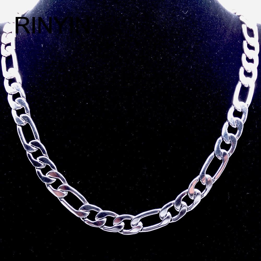 6/8 мм индивидуальная длина мужское высококачественное ожерелье из нержавеющей стали Фигаро Цепь модное украшение горячая Распродажа заводское предложение