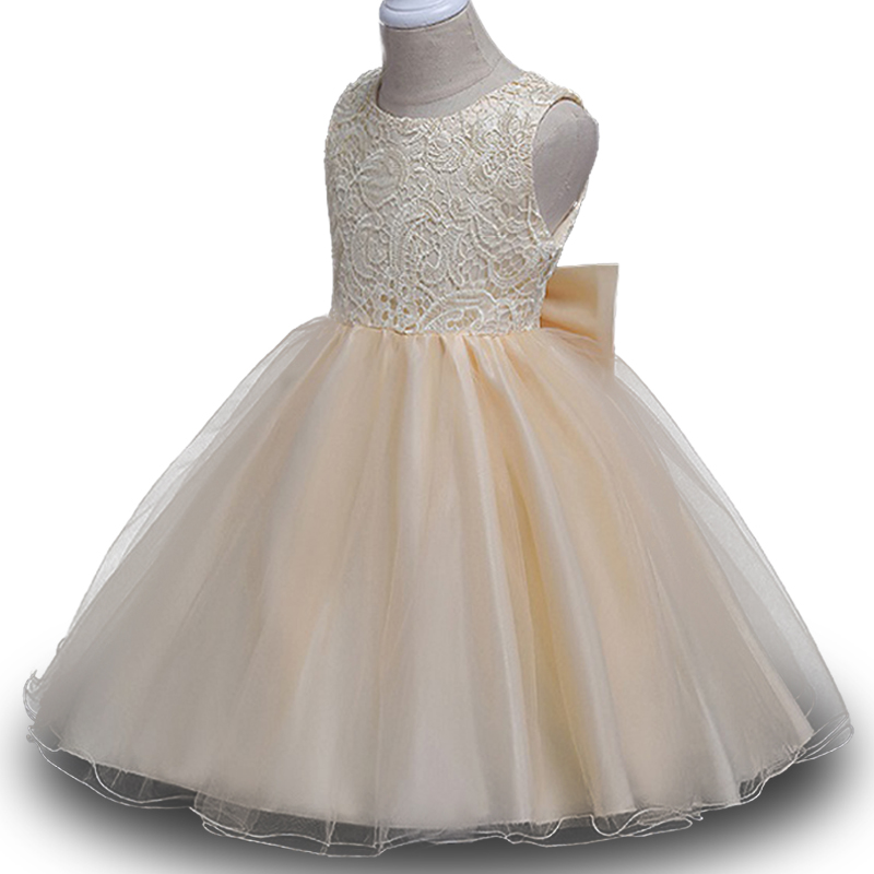 Kid Baby Princess Dress for Girl Formally Elegant Birthday Party Dress Bowknot Tutu Princess Dress Baby Girls Clothes 3-10 Years