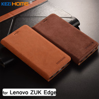 for Lenovo ZUK Edge case KEZiHOME Luxury Matte Genuine Leather Flip Stand Leather Cover capa For Lenovo ZUK Edge 5.5'' cases