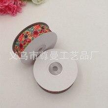 DIY Ribbon Webbing 2.5CM Digital Printing Sublimation Whorl Belt Clothing Accessories Decorative Flower Series