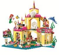 2016 New BELA Building Blocks Princess Mermaid 41063 Ariel S Undersea Palace Buildable Figures Compatible Legoe