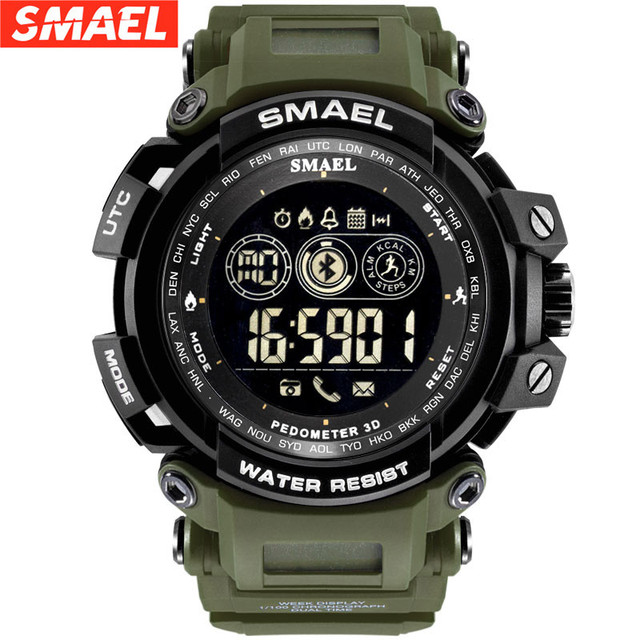 2019 New SMAEL Smart Watch Waterproof Bluetooth Sport Wrist watch For Android IOS Phone #NN0311