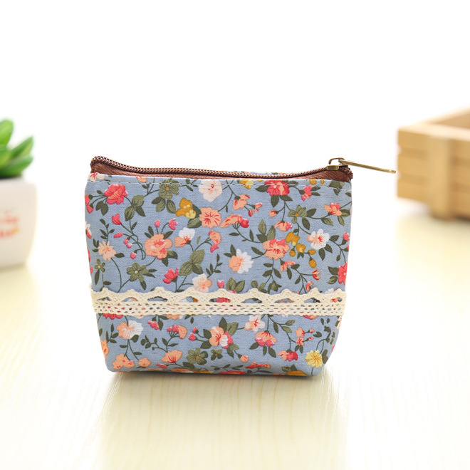 2018 New Women's Wallet Purse Ladies Day Clutches Coin Purses Flowers Mini Storage Bags Purse Zero Bag