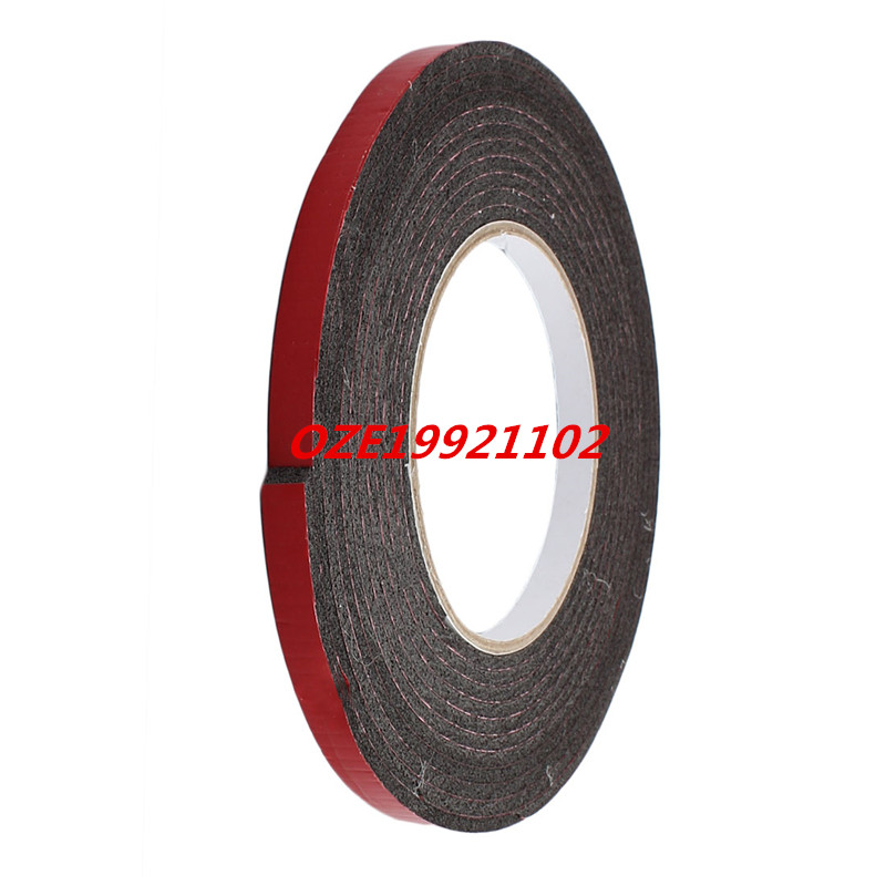 5M 8mm x 3mm Dual-side Adhesive Shockproof Sponge Foam Tape Red Black 1pcs 45mm x 5mm single sided self adhesive shockproof sponge foam tape 3 meters
