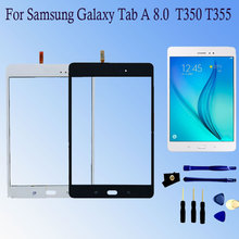 Digitizer Sensor Glass Panel Tablet Replacement New Parts For Samsung Galaxy Tab A 8.0 T355 T350 SM-T355 SM-T350 Touch Screen original new 10 1 touch for dns airtab m100qg tablet touch screen digitizer touch panel sensor glass replacement free shipping