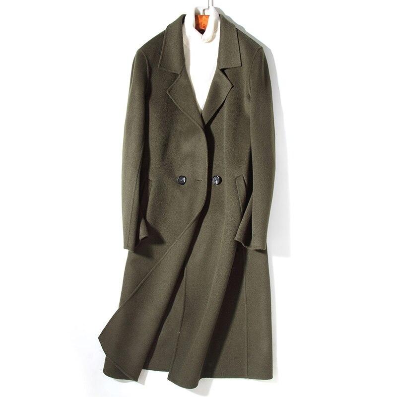 Npi Natürliche 80901c Männlichen Mantel Lange Winter Dünne Echtpelz Wolle Männer Mode Green Pelz Herbst Design Mittel Jacke Army xqwYZA6R