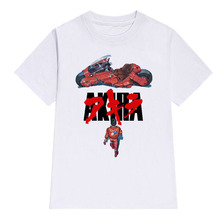 LettBao Akira Synthwave T-Shirt Men Short Sleeve Summer Fashion Tshirt Casual Wh