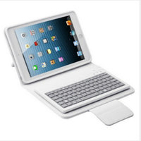 2015 English For IPad Mini 2 In 1 Combination Stand Cover Silicone Bluetooth Keyboard Leather Case